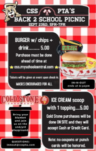 Cougar Back 2 School Picnic w/ In-N-Out @ 2nd/3rd Playground
